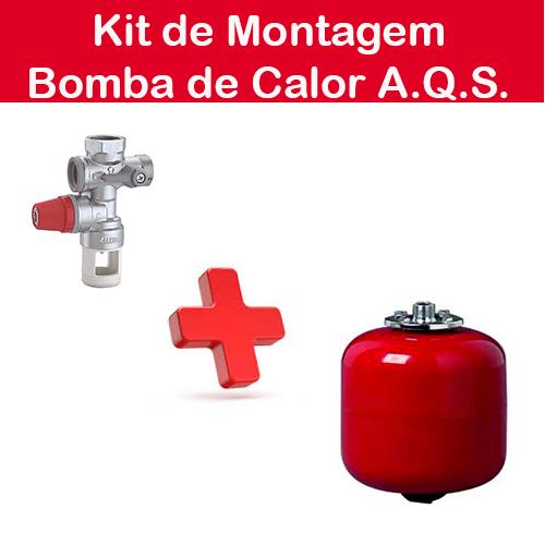 Kit de Instalação de Bombas de Calor para aquecimento de águas Sanitárias;