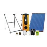 kit solar Circulação Forçada com Bomba de Calor